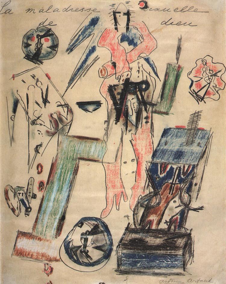 Antonin Artaud, La Maladresse sexuelle de dieu, 1946